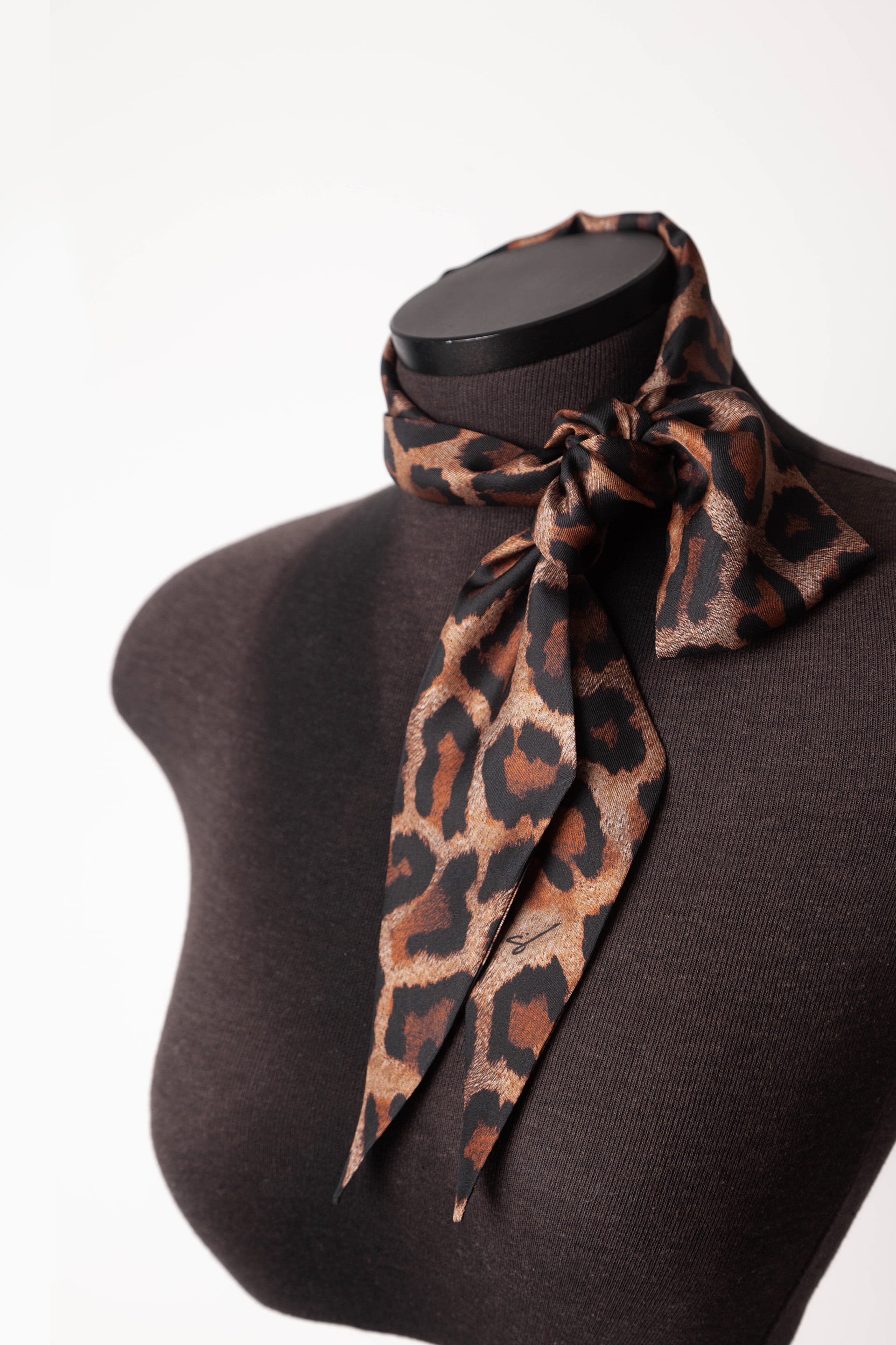 LONG BELLA SILK SCARF Cappucino