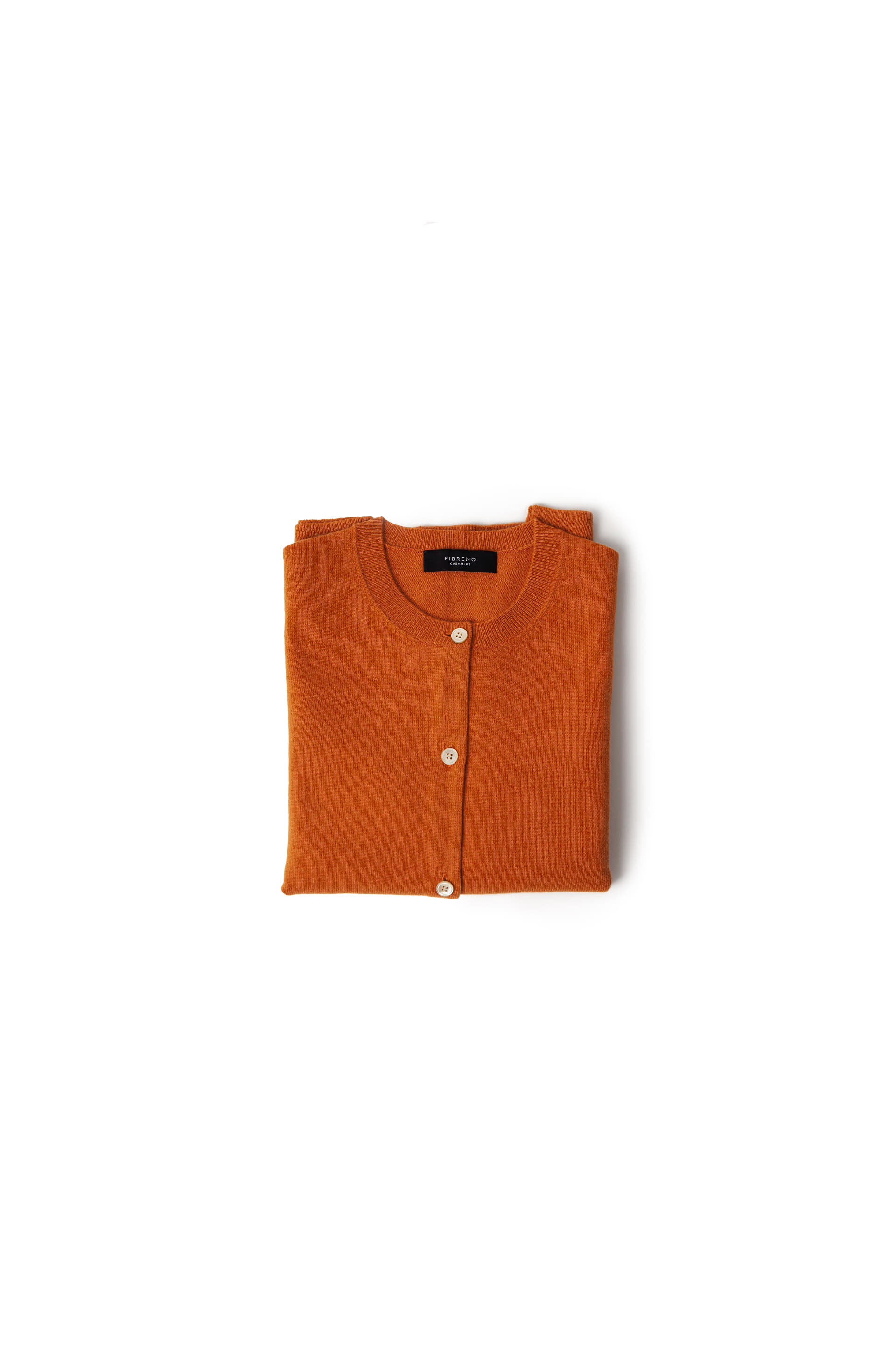 FIBRENO CASHMERE CARDIGAN Orange