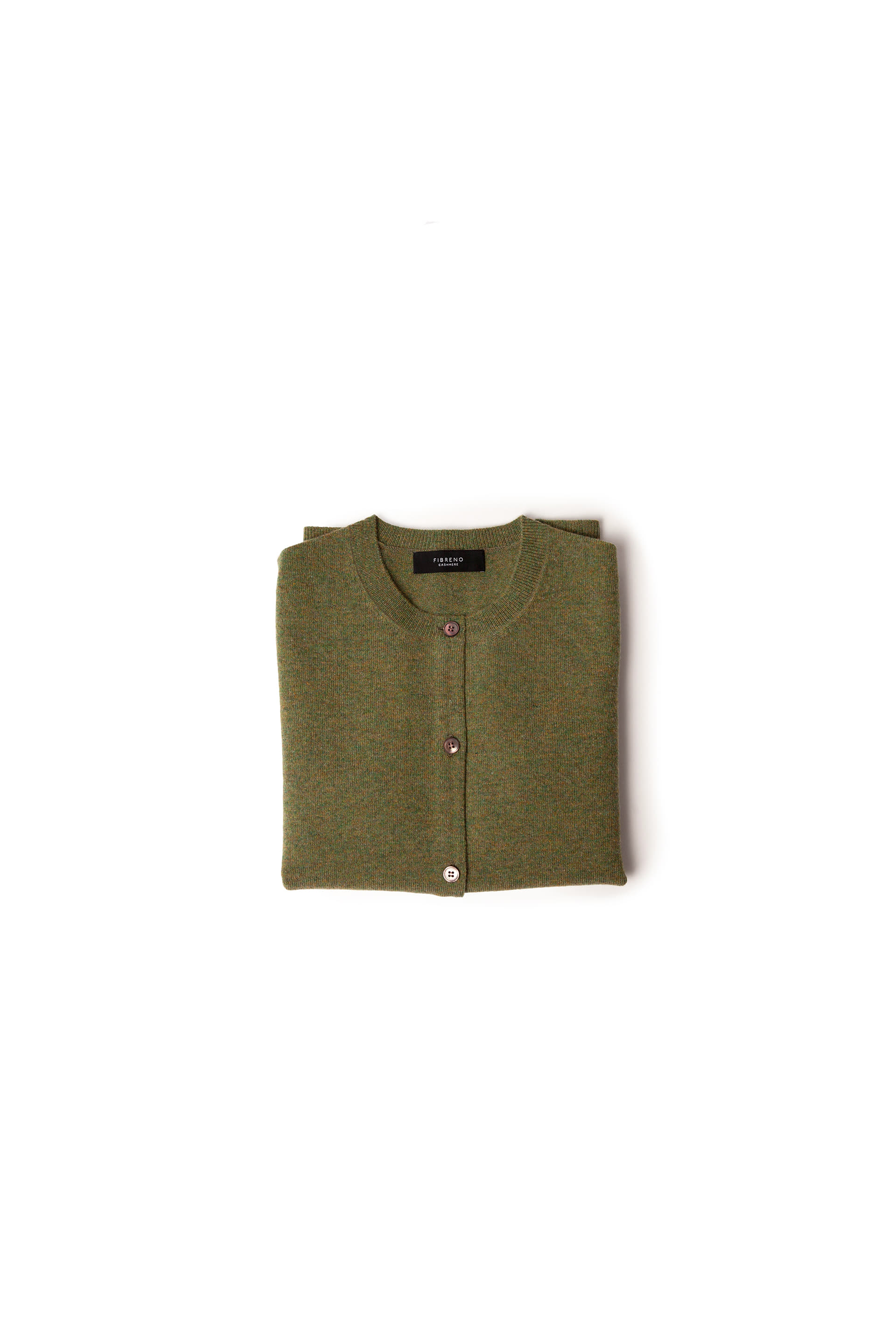 FIBRENO CASHMERE CARDIGAN Green Tea