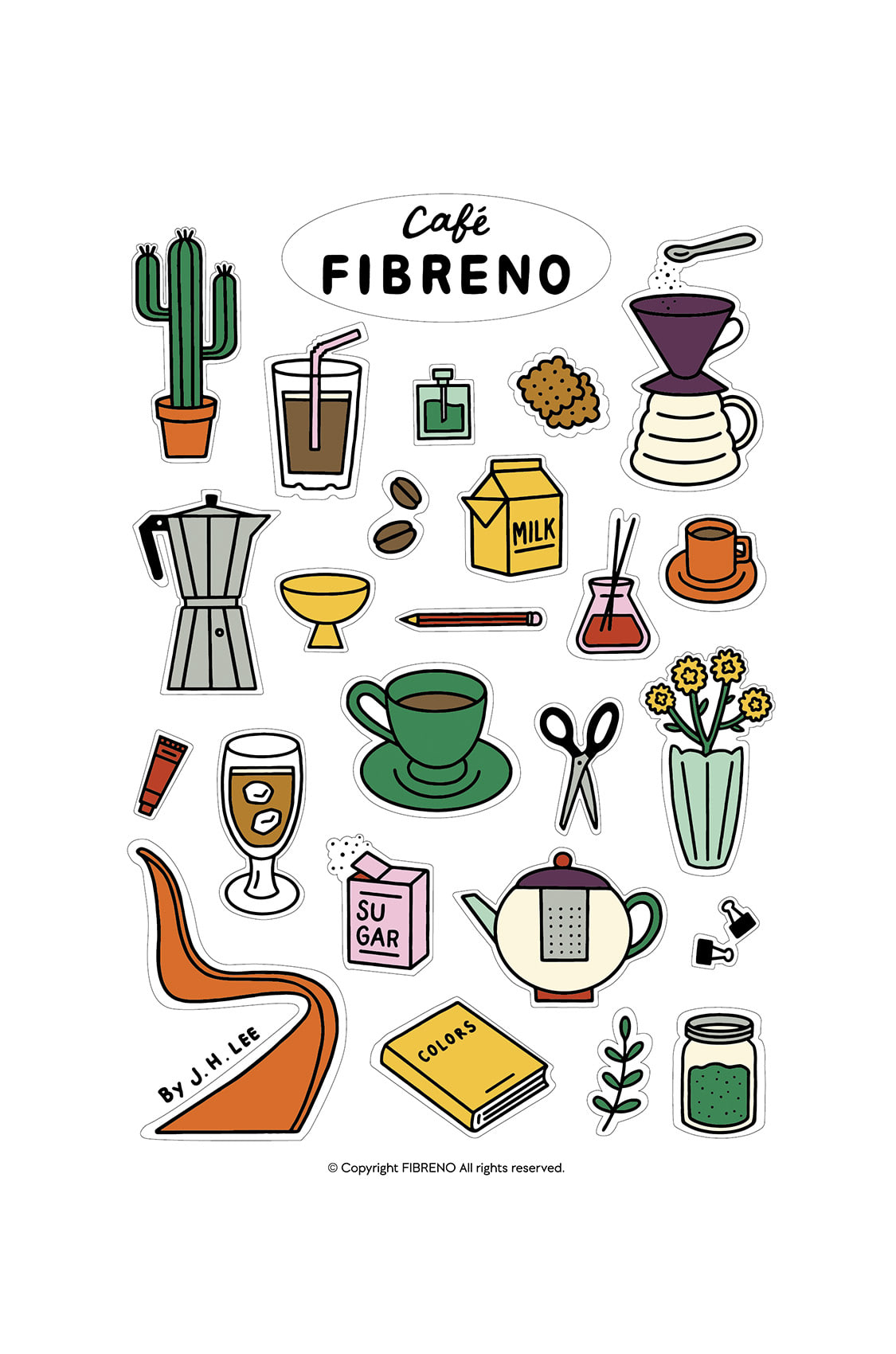 Cafe Fibreno Sticker